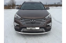 Защита переднего бампера с ДХО Hyundai Santa Fe Grand