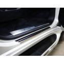 Накладки на пороги с загибом Toyota Land Cruiser 200