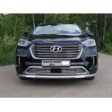 Защита переднего бампера с ДХО Hyundai Grand Santa Fe