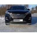 Защита переднего бампера с ДХО Hyundai Tucson 3