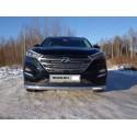 Защита переднего бампера овальная с ДХО Hyundai Tucson 3