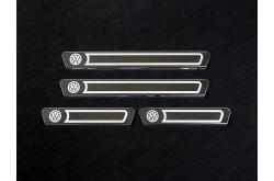 Накладки на внешние пороги Volkswagen Polo