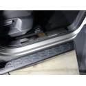 Накладки на пластиковые пороги Volkswagen Tiguan