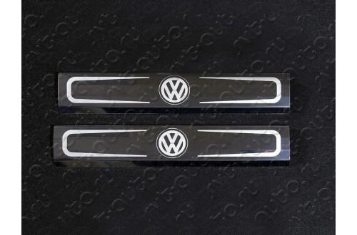 Накладки на пластиковые пороги Volkswagen Touareg