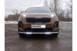 Защита переднего бампера с ДХО Kia Sportage 4