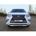 Защита переднего бампера с ДХО Lexus GX 460 2