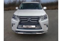 Защита переднего бампера овальная с ДХО Lexus GX 460 2