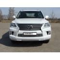 Защита переднего бампера овальная с ДХО Lexus LX 570 3