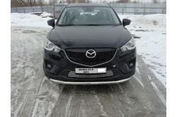 Защита переднего бампера с ДХО Mazda CX5