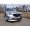 Защита переднего бампера овальная с ДХО Mazda CX5