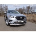 Защита переднего бампера овальная с ДХО Mazda CX5 рестайлинг