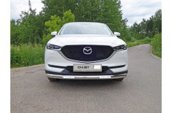 Защита переднего бампера овальная с ДХО Mazda CX5 2
