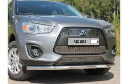 Защита переднего бампера с ДХО Mitsubishi ASX