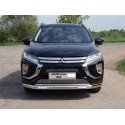 Защита переднего бампера овальная с ДХО Mitsubishi Eclips Cross