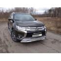 Защита переднего бампера с ДХО Mitsubishi Outlander 3 рестайлинг