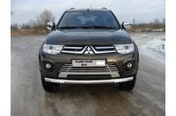 Защита переднего бампера с ДХО Mitsubishi Pajero Sport 2