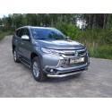 Защита переднего бампера с ДХО Mitsubishi Pajero Sport 3