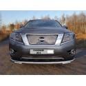 Защита переднего бампера с ДХО Nissan Pathfinder R52