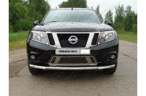 Защита переднего бампера с ДХО Nissan Terrano 3