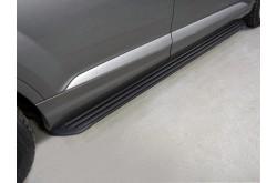 Пороги алюминиевые Slim Line Black Audi Q7