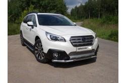 Защита переднего бампера с ДХО Subaru Outback 5