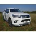 Защита переднего бампера двойная с ДХО Toyota Hilux 8