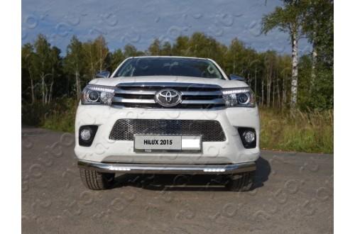 Защита переднего бампера с ДХО Toyota Hilux 8