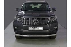 Защита переднего бампера с ДХО Toyota Land Cruiser Prado 150 рестайлинг