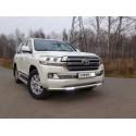 Защита переднего бампера с ДХО Toyota Land Cruiser 200 рестайлинг