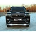 Защита переднего бампера с ДХО Toyota Land Cruiser 200 Executive