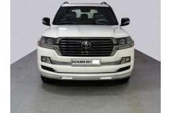 Защита переднего бампера овальная с ДХО Toyota Land Cruiser 200 Excalibur