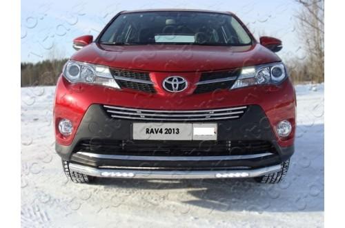 Защита переднего бампера с ДХО Toyota Rav 4 CA40