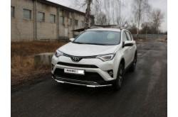 Защита переднего бампера с ДХО Toyota Rav 4