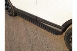 Пороги алюминиевые Slim Line Black Honda CR-V 5