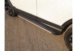 Пороги алюминиевые Slim Line Silver Honda CR-V 5