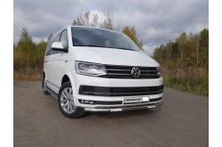 Защита переднего бампера  с ДХО Volkswagen Caravelle T6
