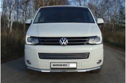 Защита переднего бампера с ДХО Volkswagen Multivan T5