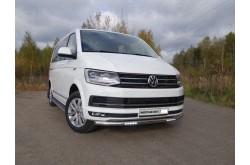 Защита переднего бампера с ДХО Vlkswagen Multivan T6