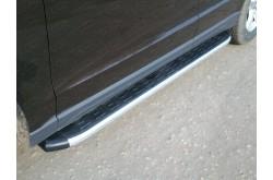 Пороги алюминиевые Hyundai Santa Fe 2