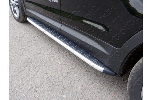 Пороги алюминиевые Hyundai Grand Santa Fe 2016