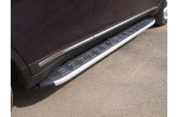 Пороги алюминиевые Infiniti QX70