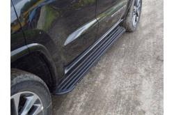 Пороги алюминиевые Slim Line Black Jeep Grand Cherokee