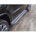 Пороги алюминиевые Slim Line Silver Jeep Grand Cherokee