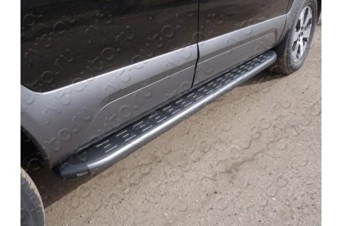 Пороги алюминиевые Kia Mohave 2016