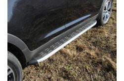Пороги алюминиевые Kia Sportage 3