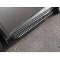 Пороги алюминиевые Slim Line Silver Lexus NX200t