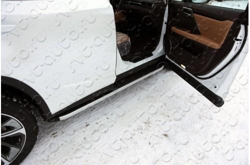 Пороги алюминиевые Lexus RX F-Sport