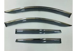 Дефлекторы окон с нержавеющим молдингом Hyundai Elantra 6 седан