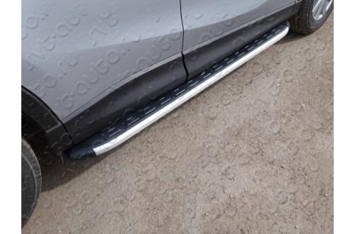 Пороги алюминиевые Mazda CX-5 рестайлинг