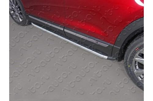 Пороги алюминиевые Mazda CX-9 2017